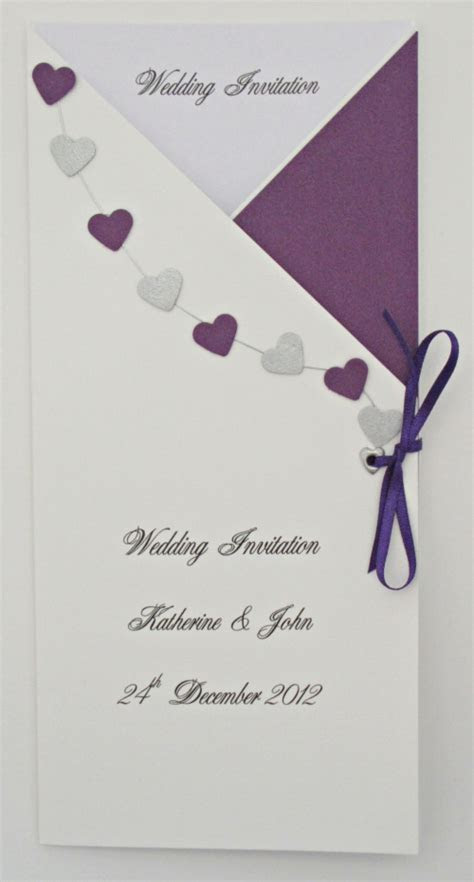 Personalised Wedding Stationery ? Purple Theme   Carol