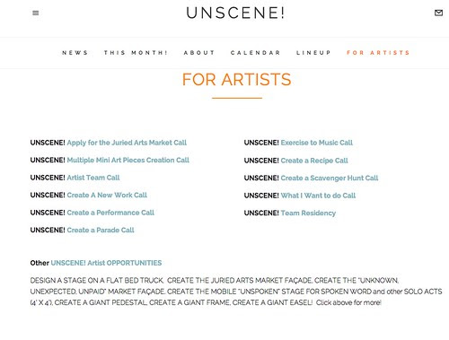 UnScene agenda, Shreveport by trudeau