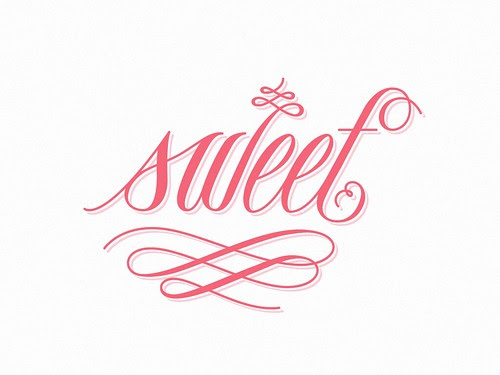 Typography - Sweet by Drew Melton via phraseologyproject