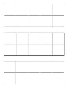 mini blank 10 frames for students to use for problem solving   10 ...