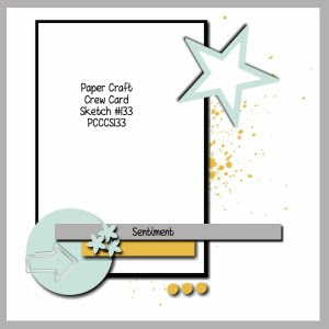 Paper Craft Crew Card Sketch 133 #stampinup #papercraftcrew #papercrafts #cardchallenge