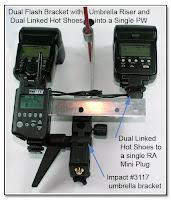 DF1047: Dual Flash Stand - Metal - Setup