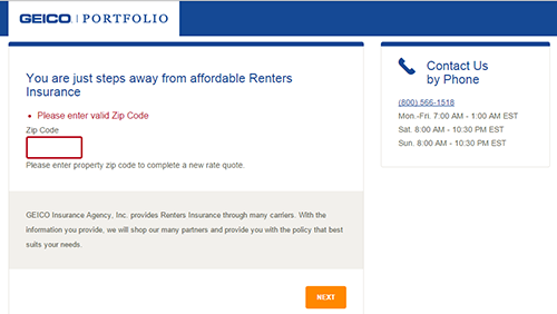 Free Geico Renters Insurance Quote