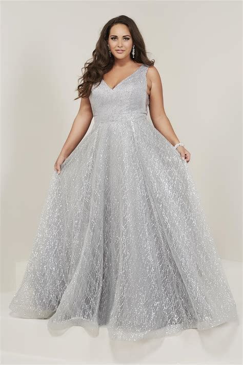 Tiffany Designs 16373 Sparkling Plus Size Prom Dress