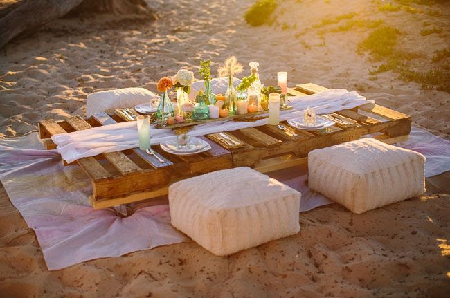 watercolor beach table  (For wedding inspiration visit www.yourlittleblog.com)  Please note this is not our post and not styled by us