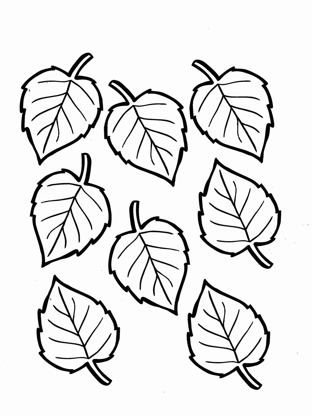 Fall Leaves Coloring Pages For Kindergarten at ...