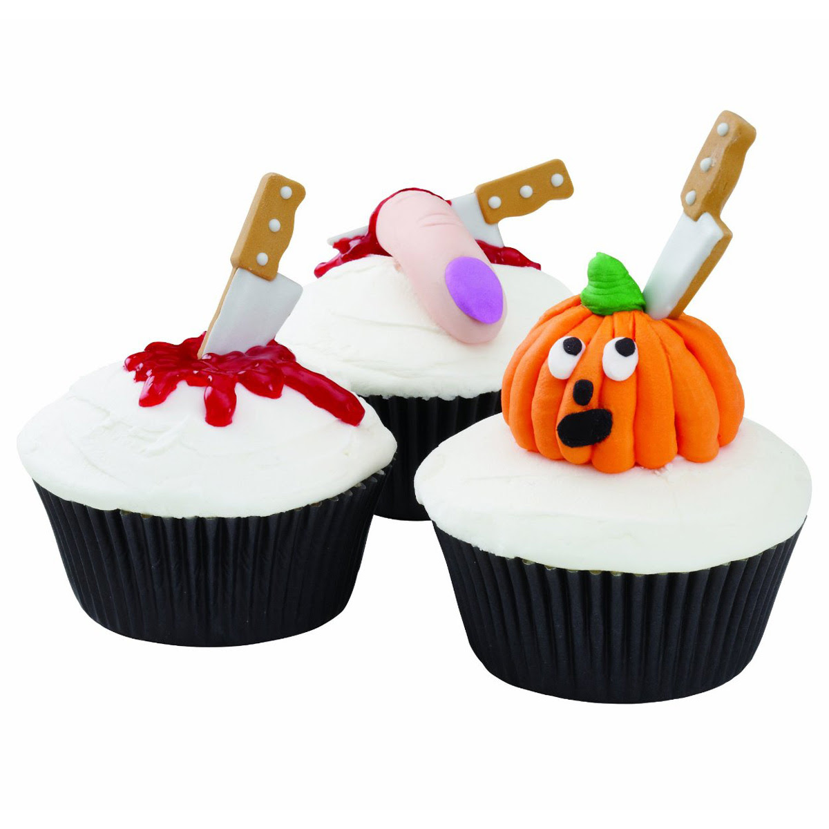 Wilton Halloween Knife Cupcake Icing Decorations - The ...