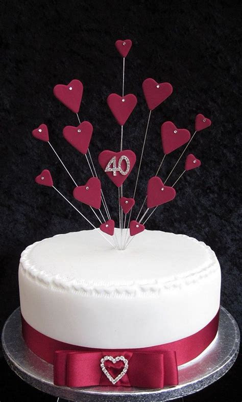 Best 25  40th anniversary cakes ideas on Pinterest   DIY