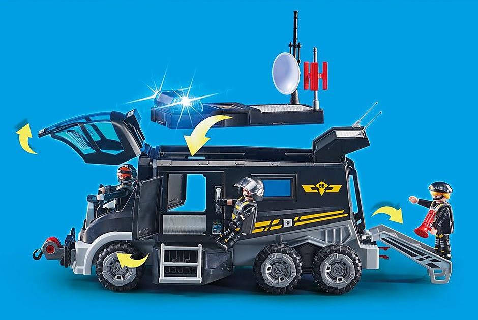playmobil sek truck ausmalbilder  playmobil 9363 sek