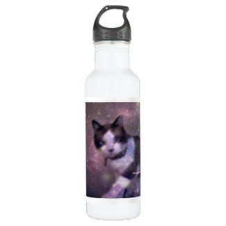 snowshoe kitty in the stars 24oz water bottle