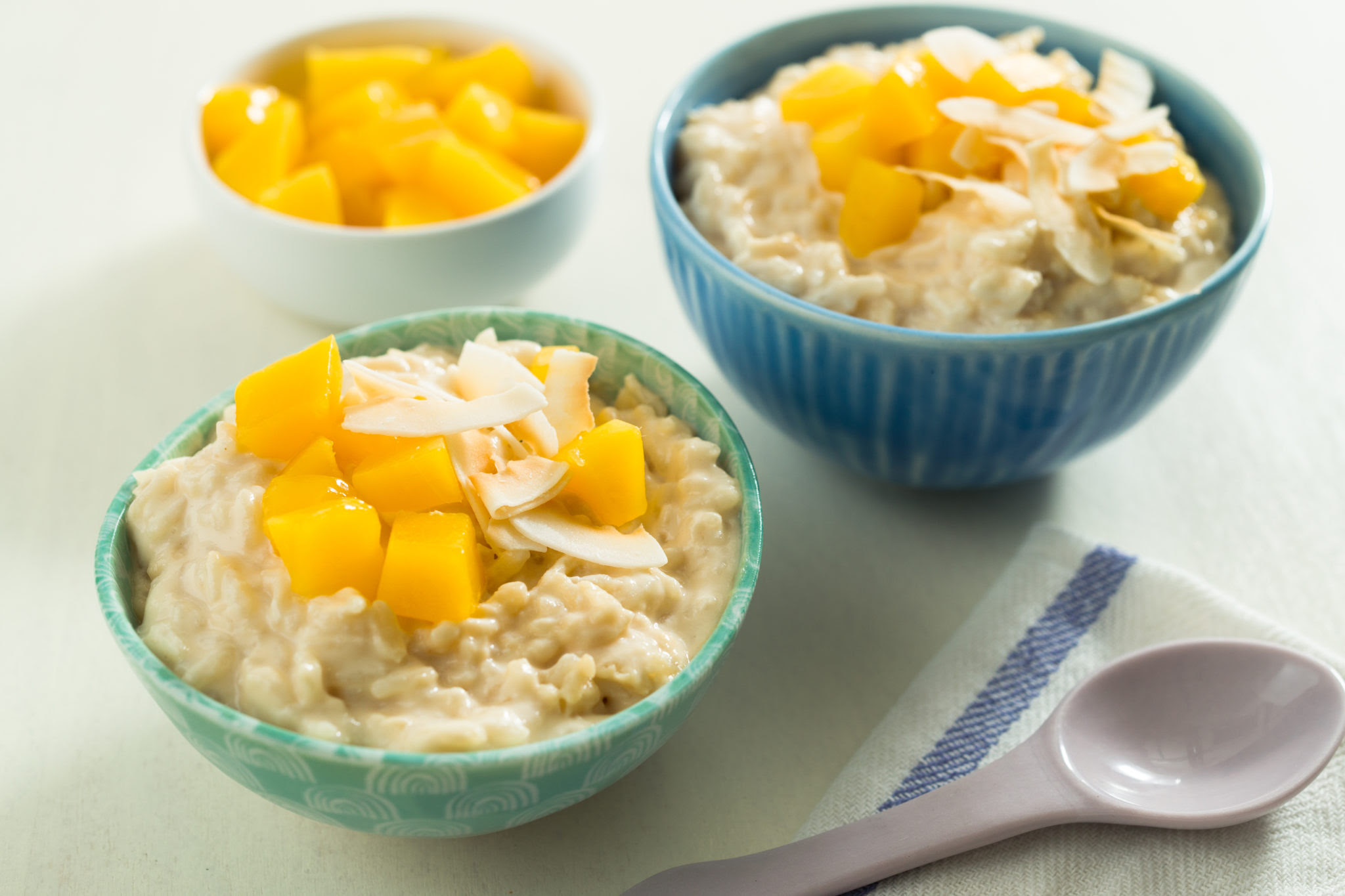 Slow Cooker Coconut Rice Pudding with Mango | Cans Get You ...