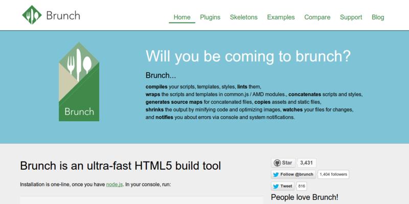 Almuerzo herramienta de construcción HTML5 ultra rápido