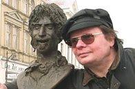 webmaster mit Frank Zappa, links