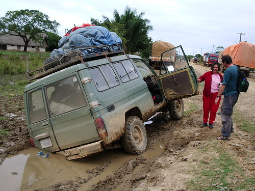 Our stuck landrover