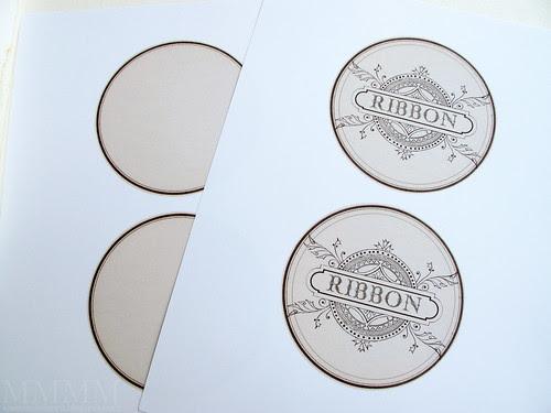 Step 3) Print free label printables front & back