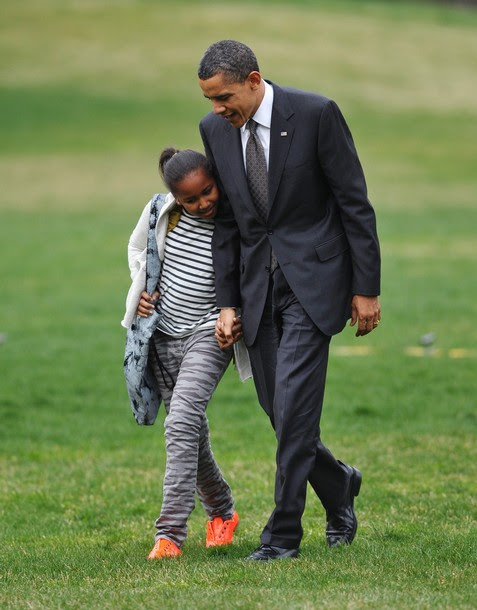 US President Barack Obama and daughter S