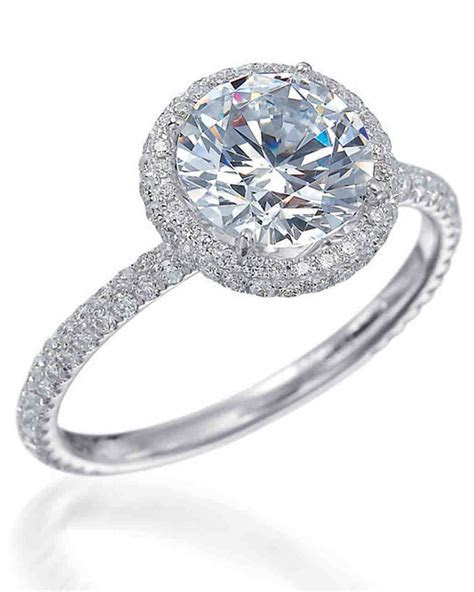 Round Cut Diamond Engagement Rings   Martha Stewart Weddings