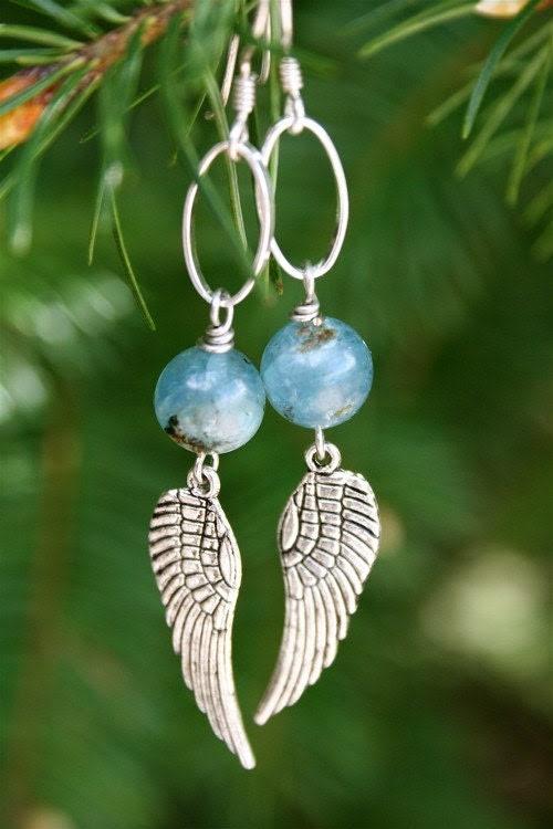 Kyanite Wing Earrings