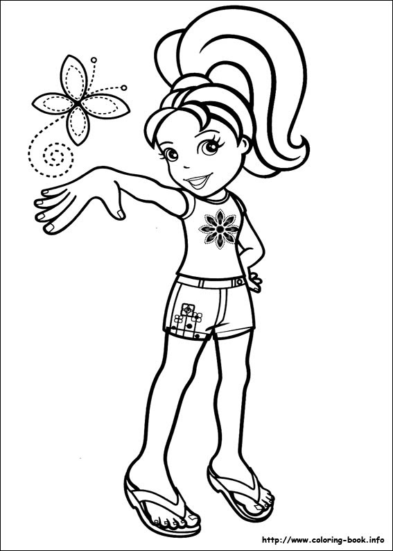 Polly Pocket Coloring Picture