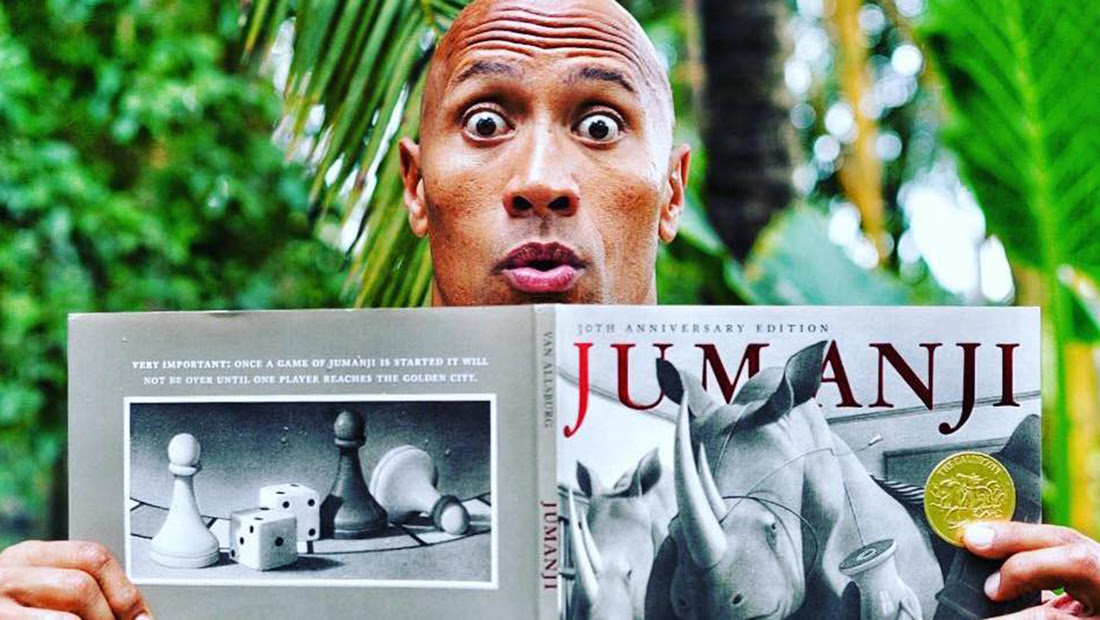 Dwayne 'The Rock' Johnson shows off his comic skills.