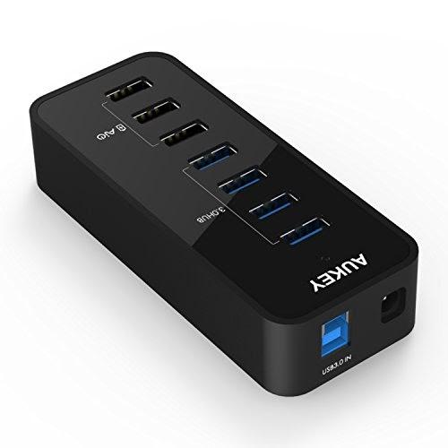 AUKEY HUB USB Alimenté 7 Ports ( 4 * USB 3.0 + 3 * Charge ...