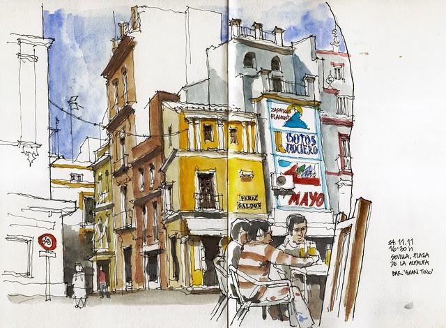 Sevilla, plaza de la Alfalfa