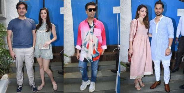 Bollywood Stars Mark Their Presence At Neha Dhupia's Baby Shower