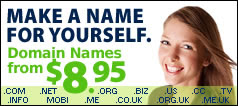 Make a Name For Yourself with $8.95 Domain Names
