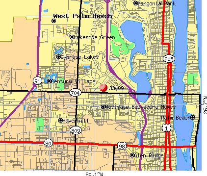 Zip Code Map West Palm Beach | World Map Zip Code Map Palm Beach County on