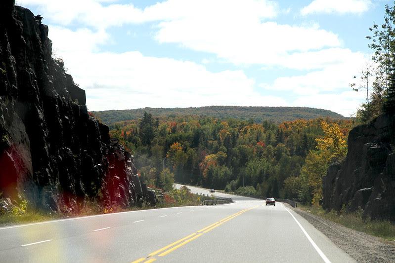 south toward town