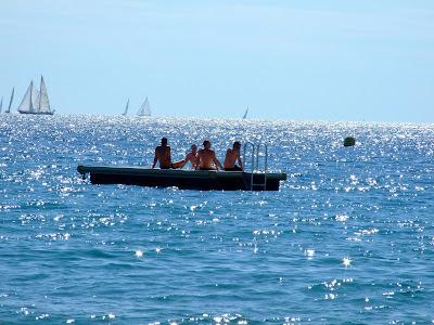 Fun on the sandy beaches of Cannes La Croisette