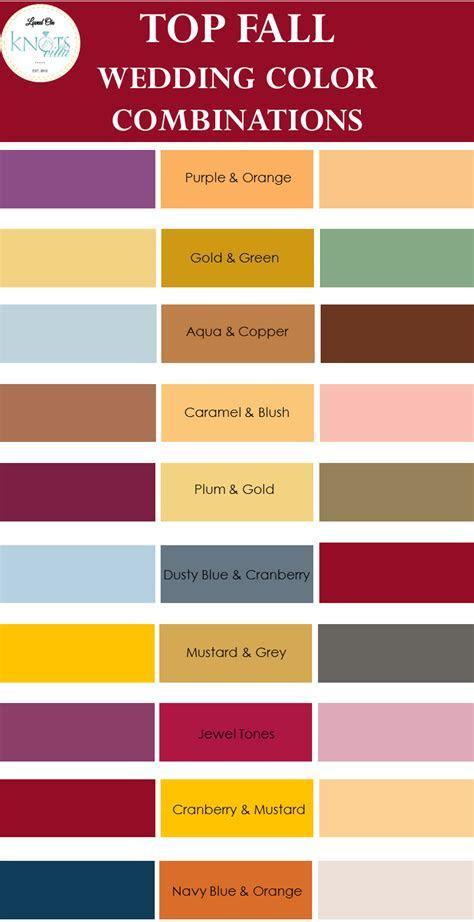 Top Fall Wedding Color Combinations   KnotsVilla