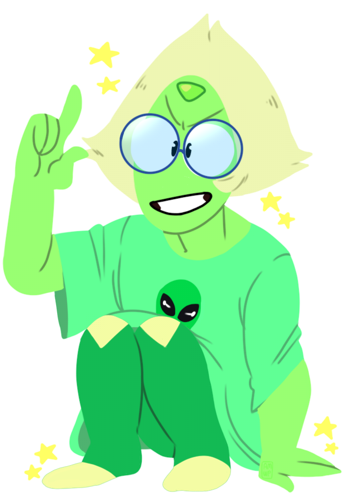 Someone on deviantart request for a smol peridot