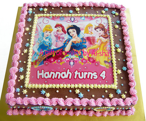 Birthday Cake Edible Image Princess