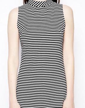 Image 3 ofPop Boutique Sleeveless Swing Dress in Stripe