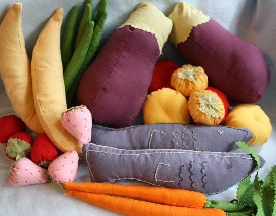 Custom Handmade Play Food Set
