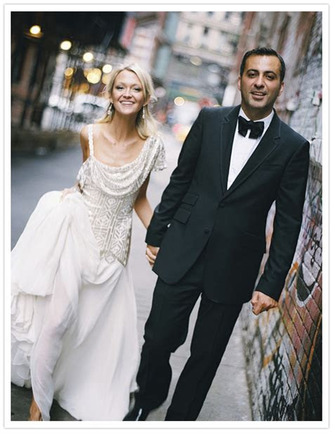 fashionable manhattan wedding zanna mazdack real