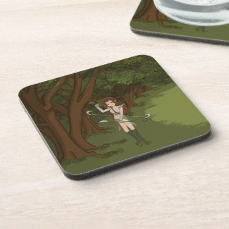 Taren the Archer Warrior Elf Girl Coasters