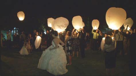 Vanessa & Ken's Wish Lanterns   Flying Lantern Wedding