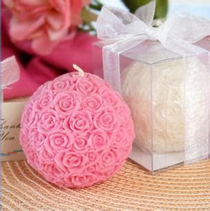 2017 Romantic Rose Flower Ball Candle Wedding Favors