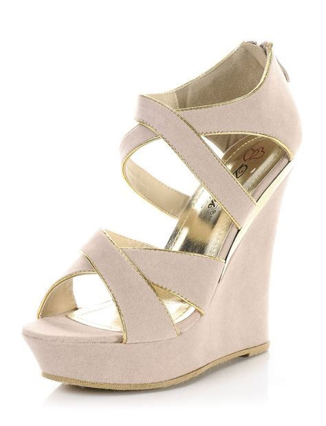 Nude   Tanya Strappy Wedge Sandals   $18.50   Cheap Wedges
