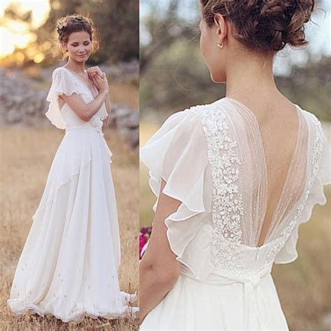 Cheap 2015 Cheap Plus Size Chiffon Country Wedding Dresses