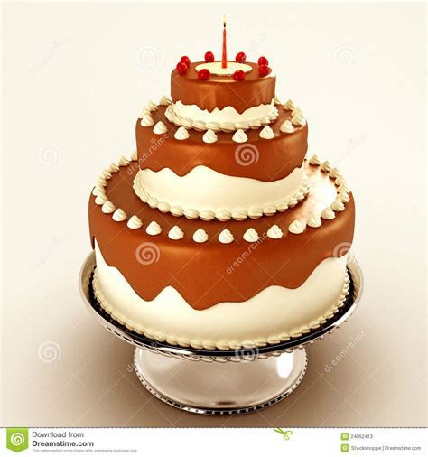 Yummy Chocolate Cake Stock Photos   Image: 24852413
