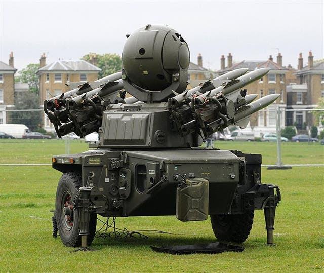 Batería de misiles rapier