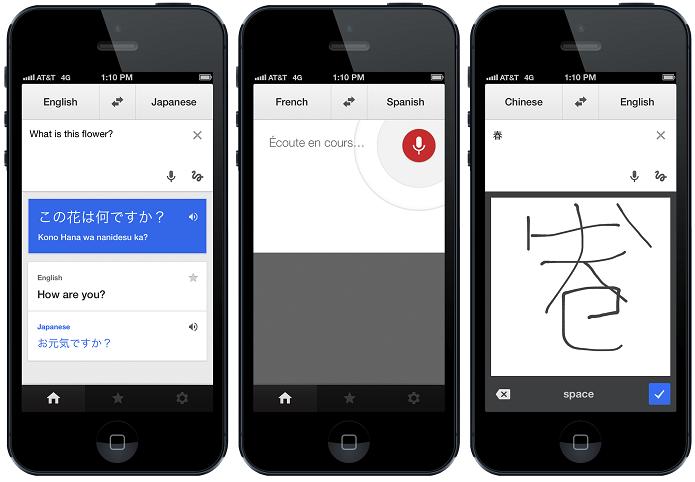 Google Translate permite fazer tradução em tempo real (Foto: Reprodução/The Next Web)