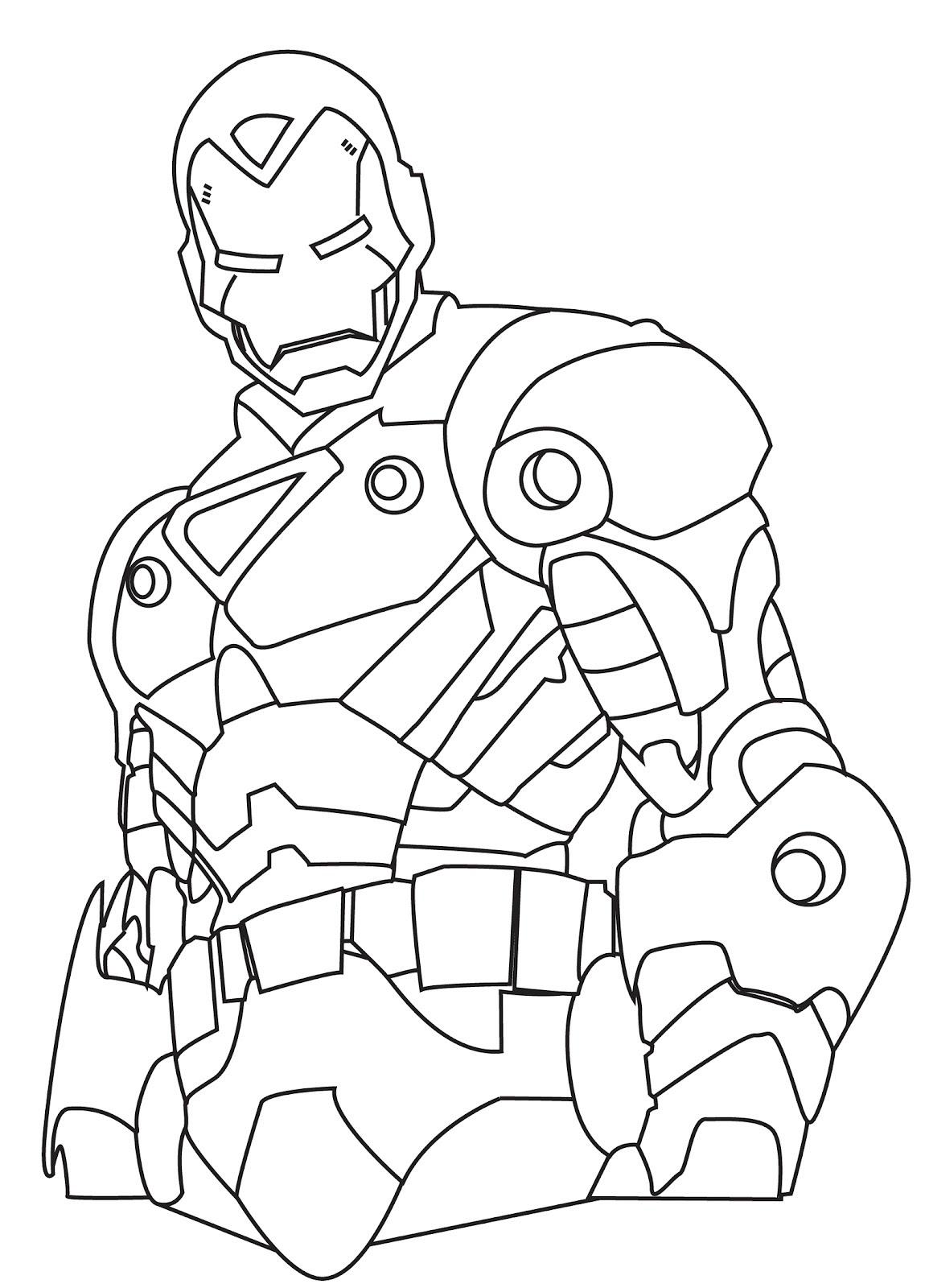 homem de ferro para colorir e pintar 6