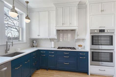 light blue kitchen walls white cabinets design interior