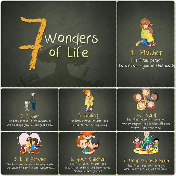 7 Wonders Of Life Inspirational Quotes Pictures