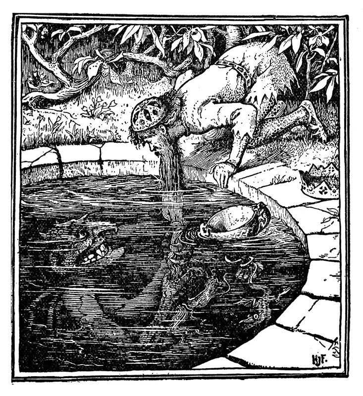 Henry Justice Ford - The green fairy book, edited by Andrew Lang,1900 (illustration 6)