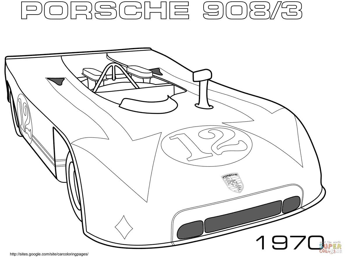 Ausmalbild: 1970 Porsche 9083  Ausmalbilder kostenlos zum ausdrucken